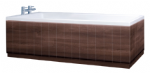 Tongue and Groove  Matt Walnut 2 Piece adjustable Bath Panels